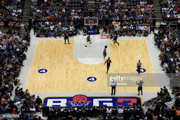 A general view during week six of the BIG3 three on three basketball league at American Airlines Center on July 30 2017 in Dallas Texas