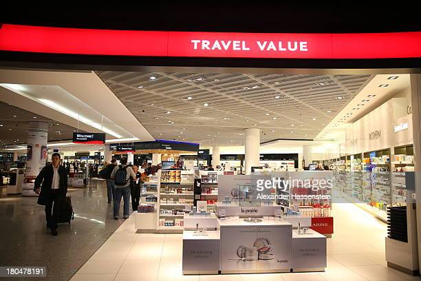 General view Duty Free shops at Terminal 1 at Frankfurt / Main International Airport on September 12 2013 in Frankfurt am Main Germany