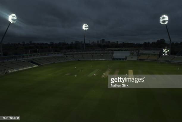 General view Edgbaston cricket ground during the Specsavers County Championship Division One match between Warwickshire and Lancashire at Edgbaston...