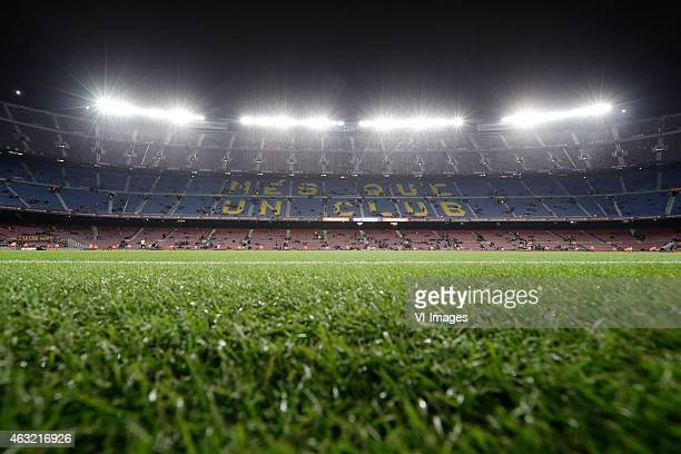 general view Estadio Camp Nou during the Copa del Rey match between FC Barcelona and Villarreal at Camp Nou on february 11 2015 in Barcelona Spain
