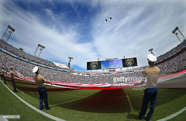 A general view EverBank Field during a game between the Jacksonville Jaguars and the Carolina Panthers September 13 2015 in Jacksonville Florida