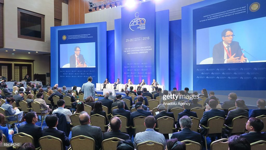 A general view from Astana Economic Forum in Astana, Kazakhstan on May 25, 2016.