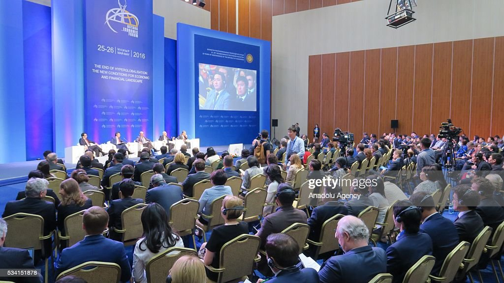 A general view from Astana Economic Forum in Astana, Kazakhstan on May 25,2016.