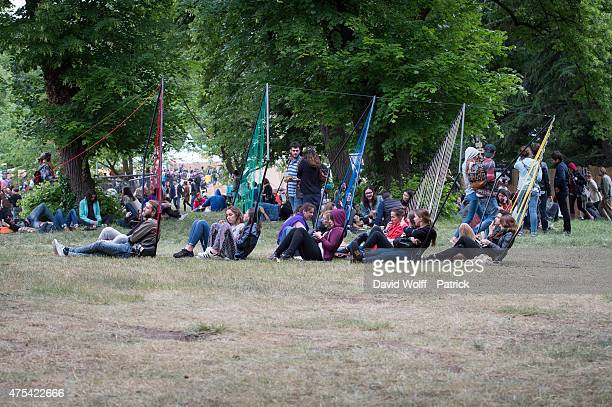 General View from atmosphere at We Love Green Festival on May 31 2015 in Paris France