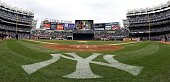 A general view from field level prior to the game between the New York Yankees and the Chicago Cubs during their game on April 4 2009 at Yankee...