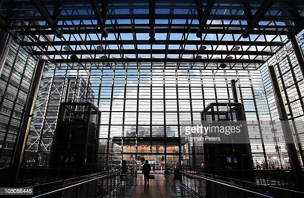 A general view from inside the Britomart Transport Centre during the Fast Track the CBD rail loop campaign July 26 2010 in Auckland New Zealand The...