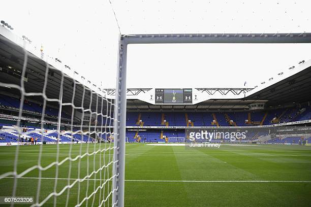 General view from inside the stadium during the Premier League match between Tottenham Hotspur and Sunderland at White Hart Lane on September 18 2016...