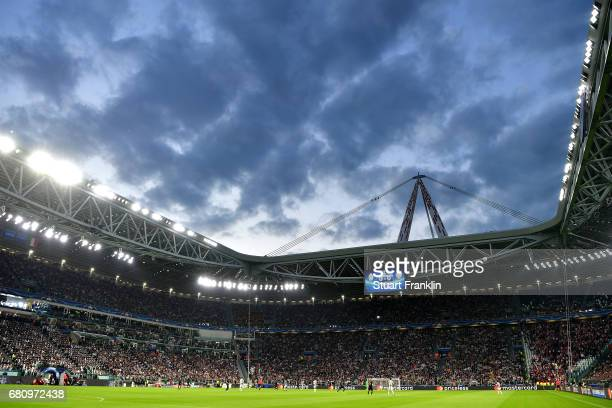 A general view from inside the stadium during the UEFA Champions League Semi Final second leg match between Juventus and AS Monaco at Juventus...