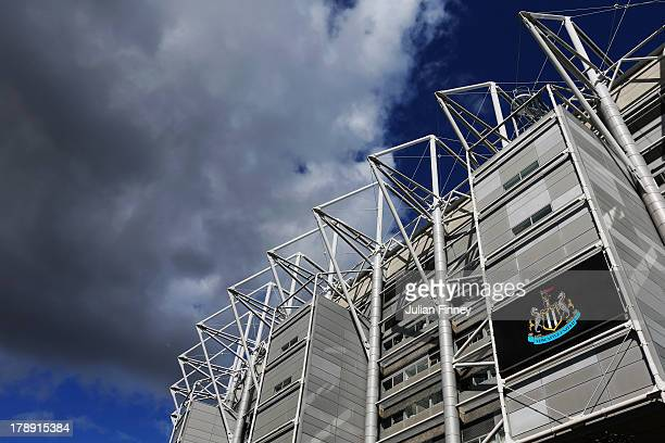 General view from outside the ground before the Barclays Premier League match between Newcastle United and Fulham at St James' Park on August 31 2013...