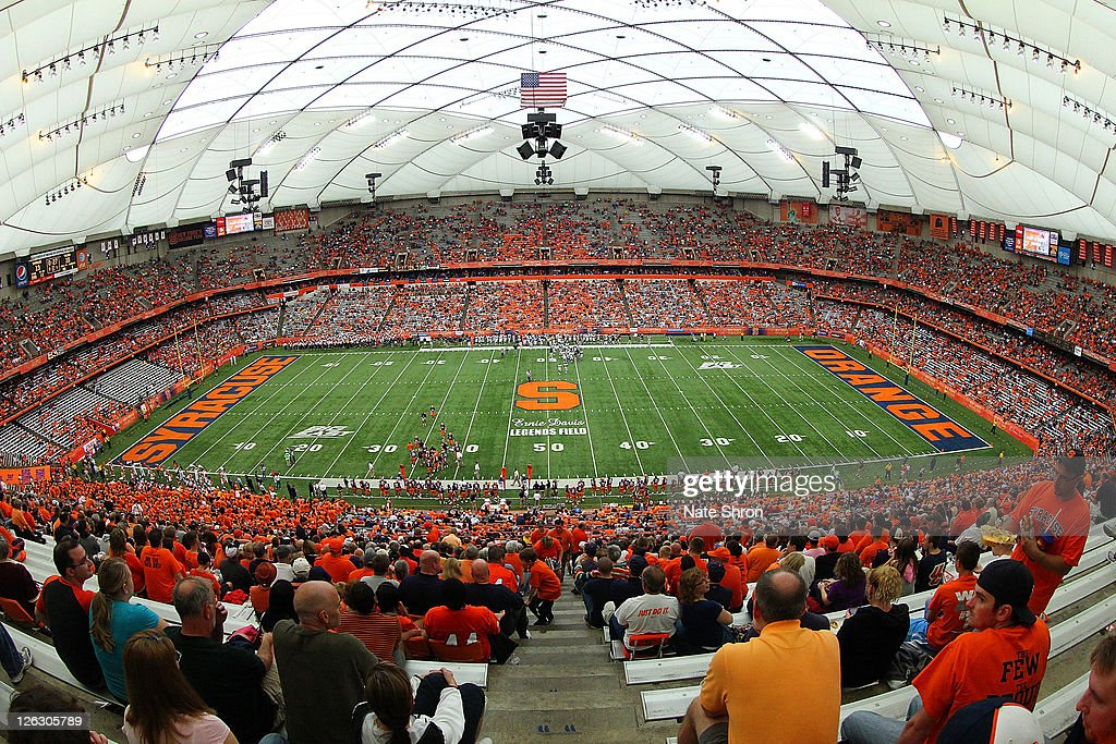 General View from the 50 yard line of the Carrier Dome during the Syracuse Orange game vs the Toledo Rockets on September 24 2011 at the Carrier Dome...