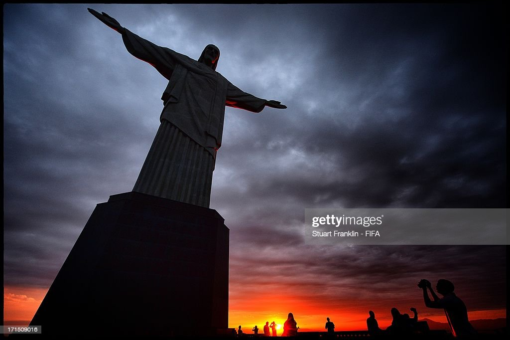 . A general view from the Christ the redeemer statue on June 25, 2013 in Rio de Janeiro, Brazil.