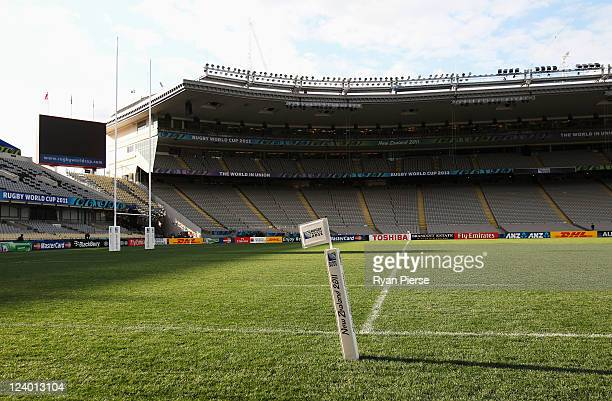 A general view from the corner flag during the New Zealand All Blacks IRB Rugby World Cup 2011 Captain's Run at Eden Park on September 8 2011 in...