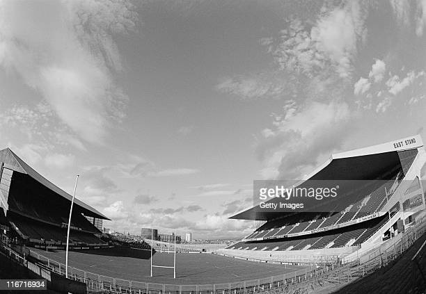 A general view from the goalposts of the Lansdowne Road stadium on 1st September 1984 in Dublin Ireland