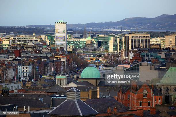 General view from the Gravity Bar at Guinness Storehouse on April 22 2016 in Dublin Ireland Illustrative picture of the Irish capital city center