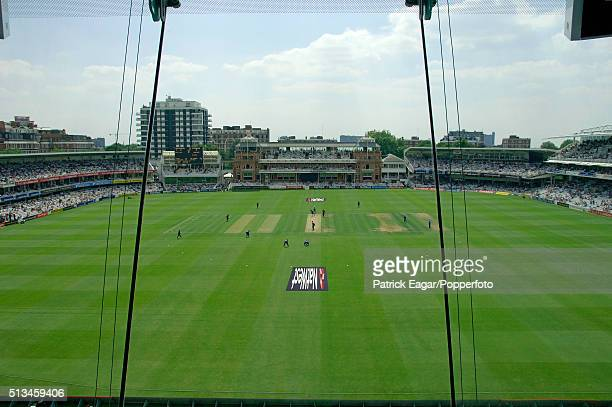 General view from the Media Centre during the NatWest Series One Day International between England and Sri Lanka at Lord's London 17th June 2006 Sri...