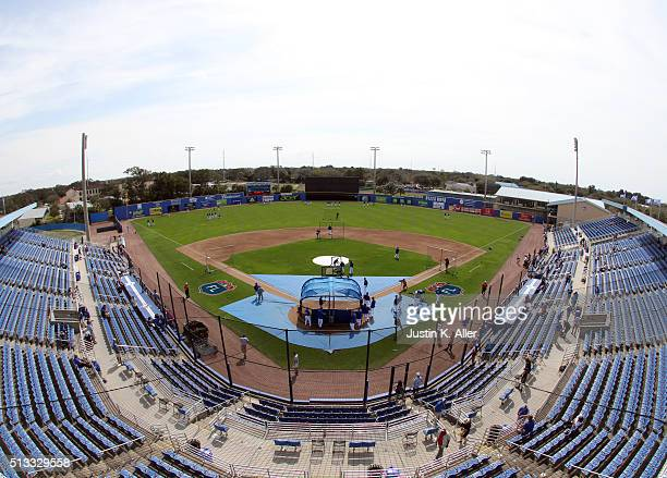 A general view from the spring training home of the Toronto Blue Jays before the game against the Philadelphia Phillies at Florida Auto Exchange...