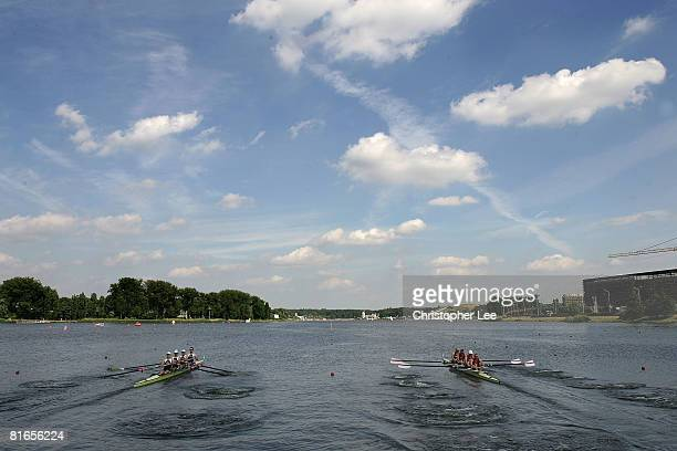 General View from the start during Day 2 of the FISA Rowing World Cup on Lake Malta on June 21 2008 in Poznan Poland