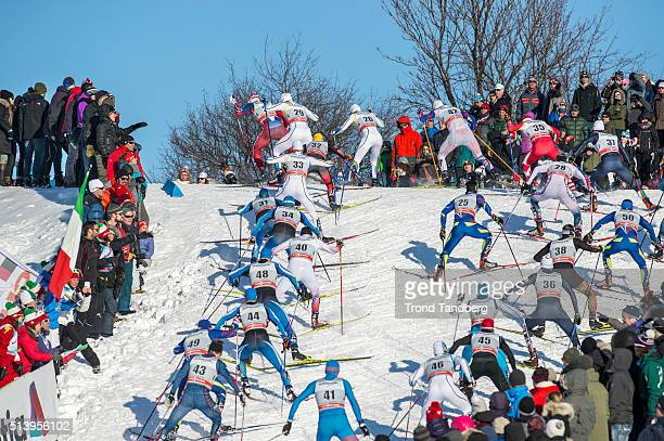 General view from track Cross Country Men 150 km Pursuit Free on March 05 2016 in Quebec Canada