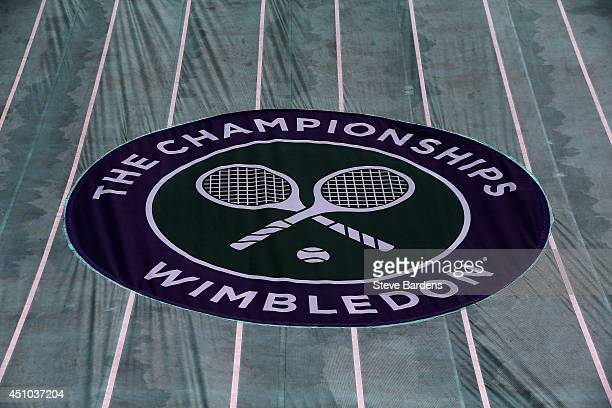 General view in Centre Court during previews for Wimbledon Championships at Wimbledon on June 22 2014 in London England