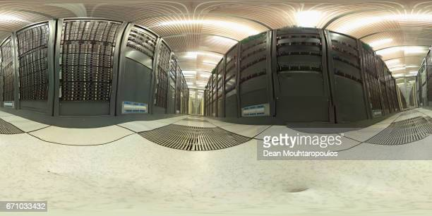 A general view in the CERN Computer / Data Centre and server farm of the 1450 m2 main room during a behind the scenes tour at CERN the World's...