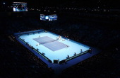 A general view in the men's singles match between Stanislas Wawrinka of Switzerland and David Ferrer of Spain during day five of the Barclays ATP...