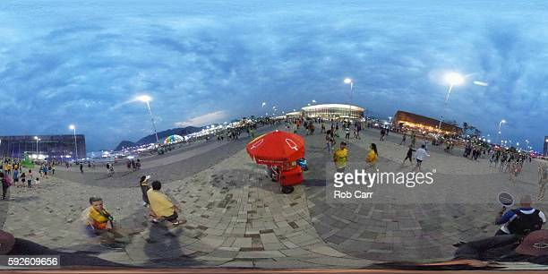 General view in the Olympic Park on August 20 2016 in Rio de Janeiro Brazil