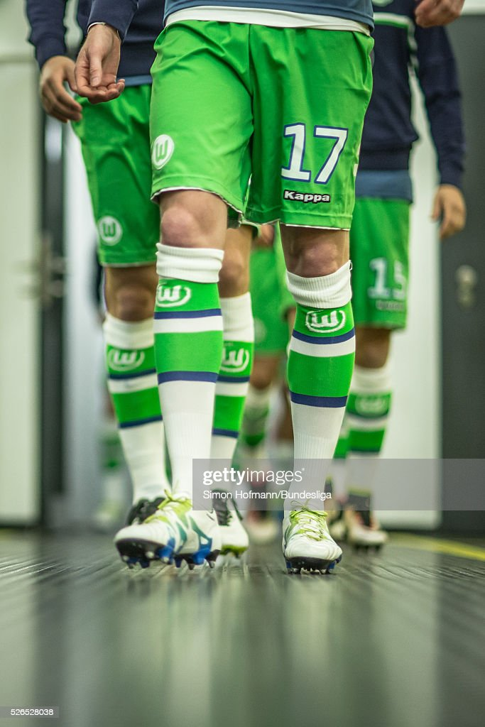 A general view in the player's tunnel prior to the Bundesliga match between Borussia Dortmund and VfL Wolfsburg at Signal Iduna Park on April 30, 2016 in Dortmund, North Rhine-Westphalia.