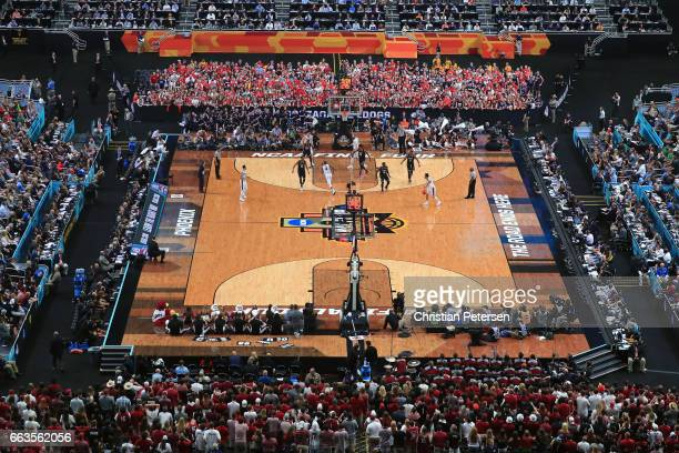 A general view in the second half as the Gonzaga Bulldogs and the South Carolina Gamecocks during the 2017 NCAA Men's Final Four Semifinal at...