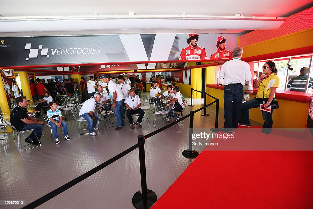 General view in the Shell hospitality suite following practice for the Brazilian Formula One Grand Prix at the Autodromo Jose Carlos Pace on November 23, 2012 in Sao Paulo, Brazil.