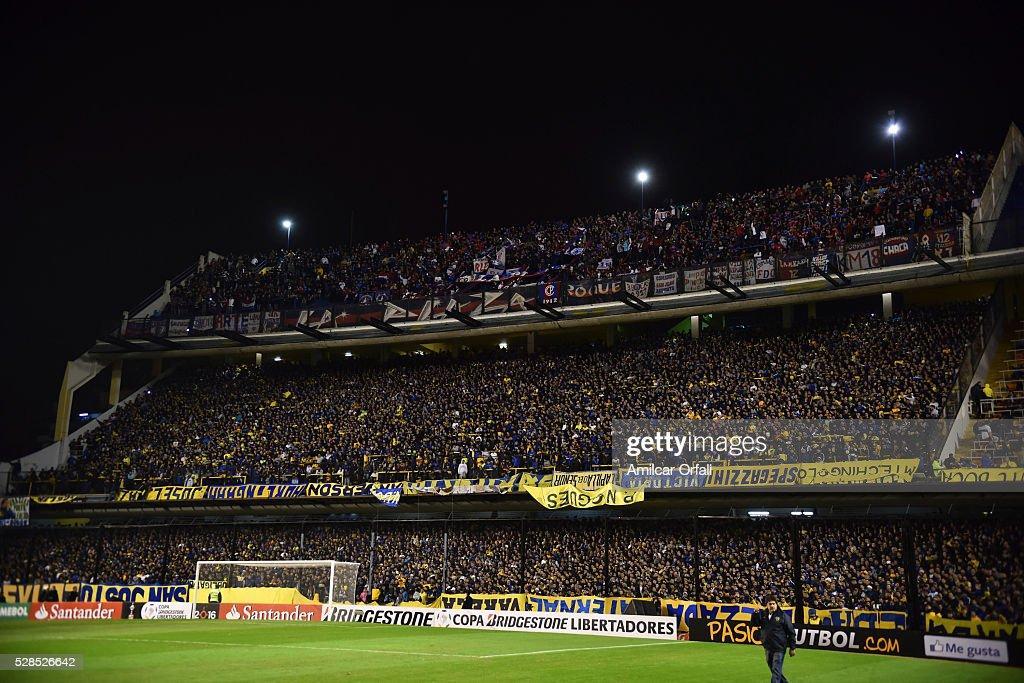 General view inside Alberto J Armando Stadium prior to a second leg match between Boca Juniors and Cerro Porteno as part of round of sixteen of Copa Bridgestone Libertadores 2016 at Alberto J Armando Stadium on May 05, 2016 in Buenos Aires, Argentina.