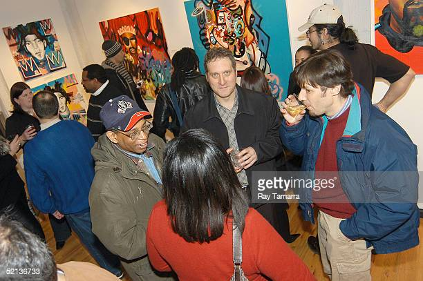 A general view inside at Jackson Brown's Art Opening February 4 2005 at Eye Jammie Fine Arts Gallery in New York