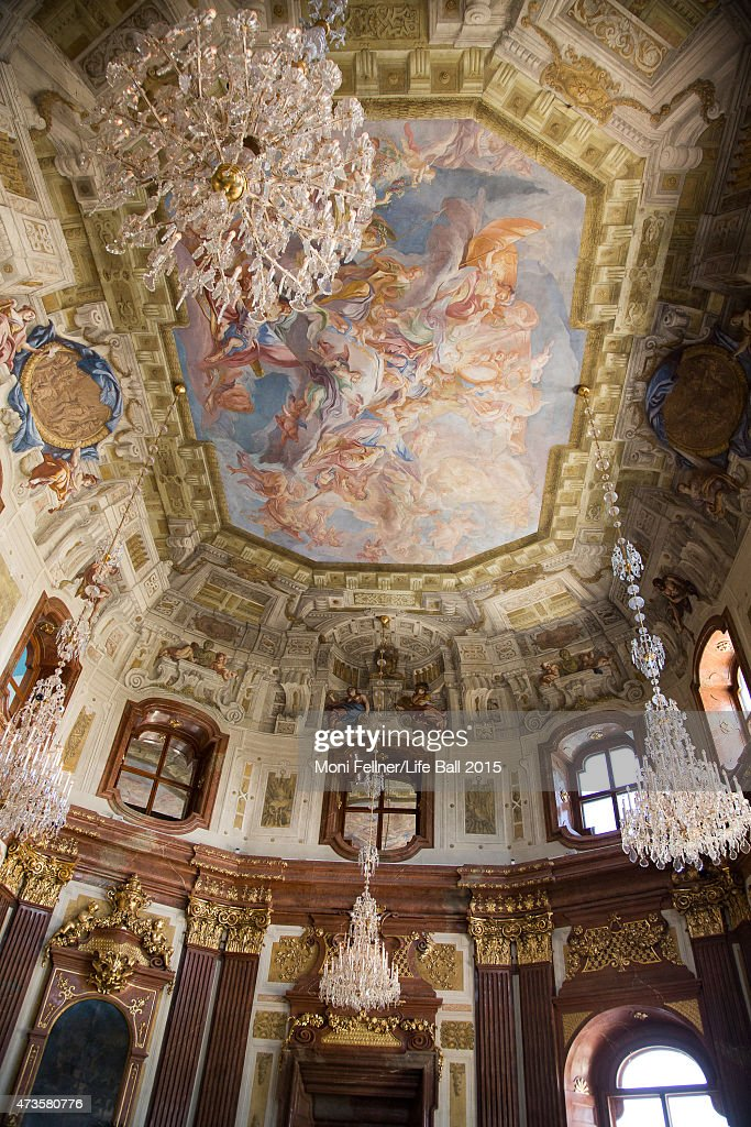 A general view inside Belvedere Palace at the Life Ball 2015 first ladies lunch at Belvedere Palace on May 16 2015 in Vienna Austria The Life Ball an...