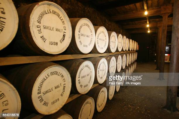 A general view inside Bushmills Whiskey Distillery Northern Ireland