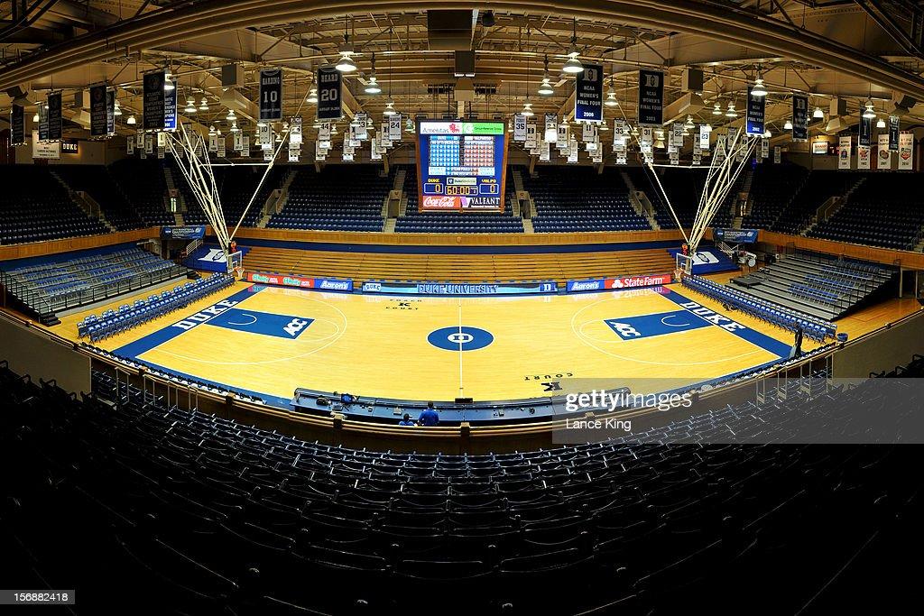 A general view inside Cameron Indoor Stadium on November 23, 2012 in Durham, North Carolina.