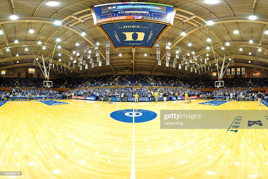 A general view inside Cameron Indoor Stadium prior to a game between the Cornell Big Red and the Duke Blue Devils on December 19, 2012 in Durham, North Carolina.