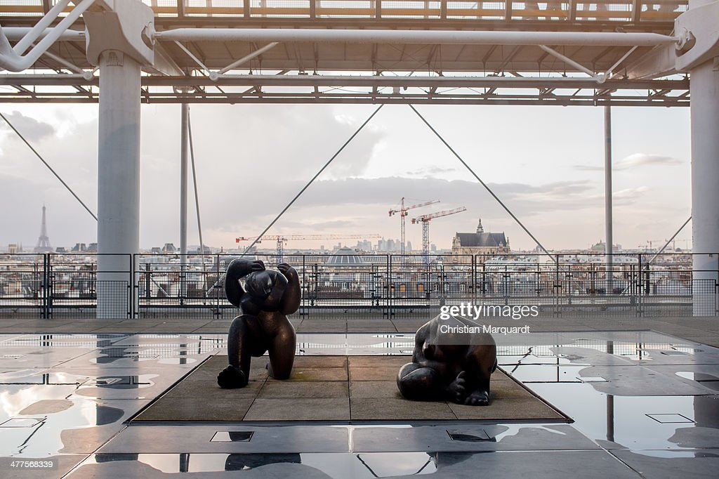 A general view inside Centre Pompidou on February 27 2014 in Paris France The 'Musee National d'Art Moderne' in Centre Pompidou is the largest museum...