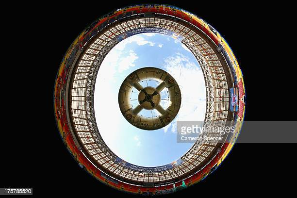 A general view inside Luzhniki Stadium ahead of the 14th IAAF World Athletics Championships Moscow 2013 on August 8 2013 in Moscow Russia