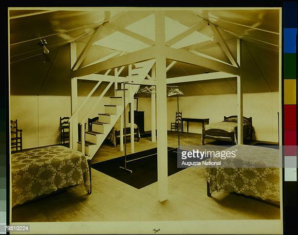 General View Inside Of The Crows Nest Of The Clubhouse Of The Augusta National Golf Club Circa 1940