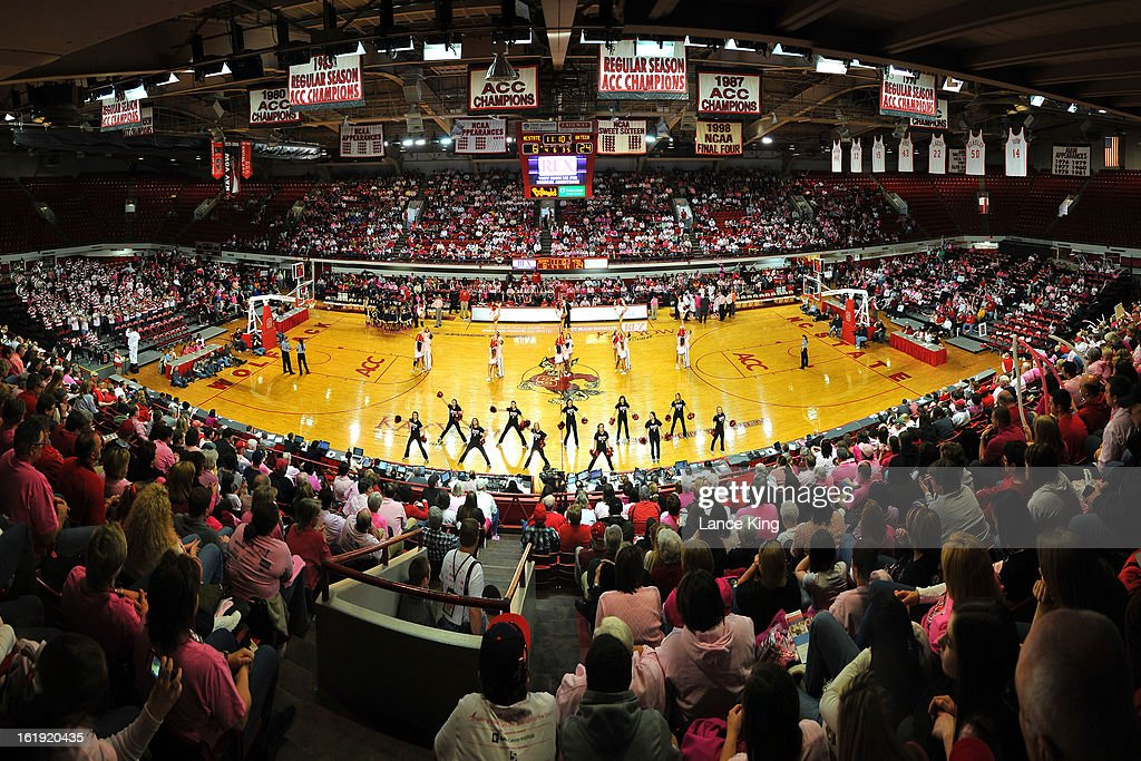 A general view inside Reynolds Coliseum during a game between the Georgia Tech Yellow Jackets and the North Carolina State Wolfpack on February 17, 2013 in Raleigh, North Carolina.