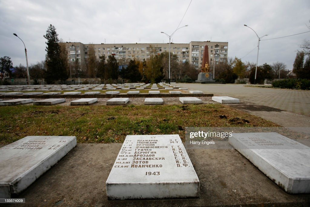 A general view inside the city's central cemetery on November 19, 2011 in Krasnodar, Russia. Krasnodar is one of thirteen cities proposed as a host city as Russia prepares to host the 2018 FIFA World Cup.