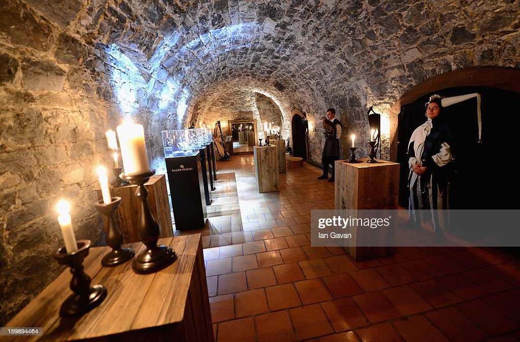 A general view inside the Excalibur Dinner hosted by Roger Dubuis during the 23rd Salon International de la Haute Horlogerie at Caves des Vollandes on January 21, 2013 in Geneva, Switzerland.