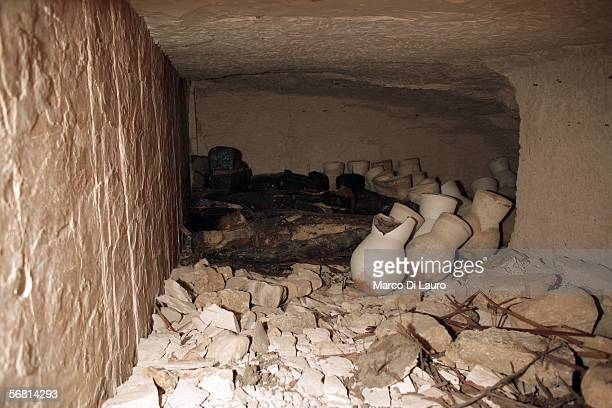 A general view inside the first tomb to be discovered in the Valley of the Kings since King Tut's in 1922 on February 10 2006 in Luxor Egypt The tomb...