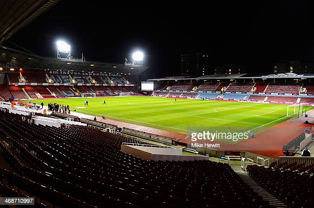 General view inside the ground before the Barclays Premier League match between West Ham United and Norwich City at the Boleyn Ground on February 11...