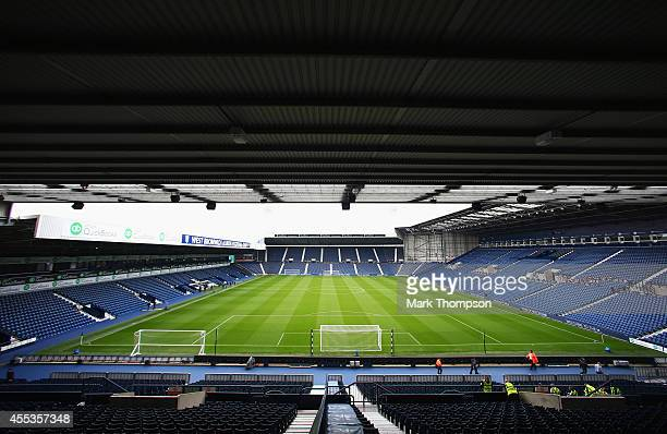A general view inside the ground prior to the Barclays Premier League match between West Bromwich Albion and Everton at The Hawthorns on September 13...