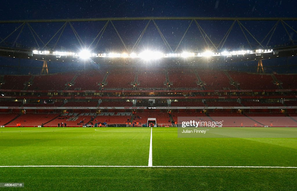 A general view inside the ground prior to the Barclays Premier League match between Arsenal and Queens Park Rangers at Emirates Stadium on December...