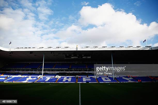A general view inside the ground prior to the Barclays Premier League match between Tottenham Hotspur and Sunderland at White Hart Lane on January 17...