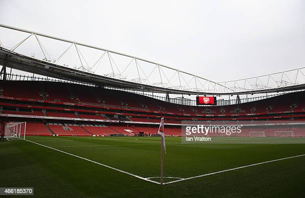 A general view inside the ground prior to the Barclays Premier League match between Arsenal and West Ham United at Emirates Stadium on March 14 2015...