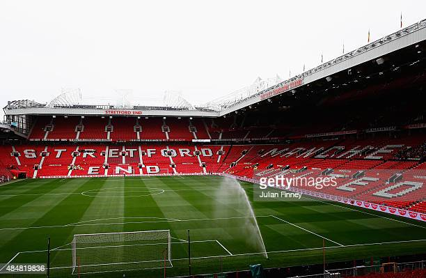 A general view inside the ground prior to the Barclays Premier League match between Manchester United and Newcastle United at Old Trafford on August...