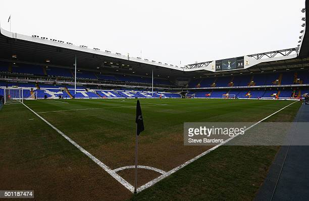A general view inside the ground prior to the Barclays Premier League match between Tottenham Hotspur and Newcastle United at White Hart Lane on...