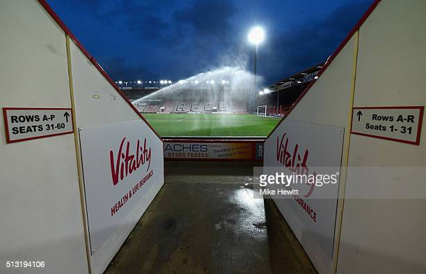 A general view inside the ground prior to the Barclays Premier League match between AFC Bournemouth and Southampton at Vitality Stadium on March 1...
